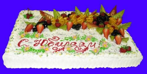 Оформление торта юбилей фото